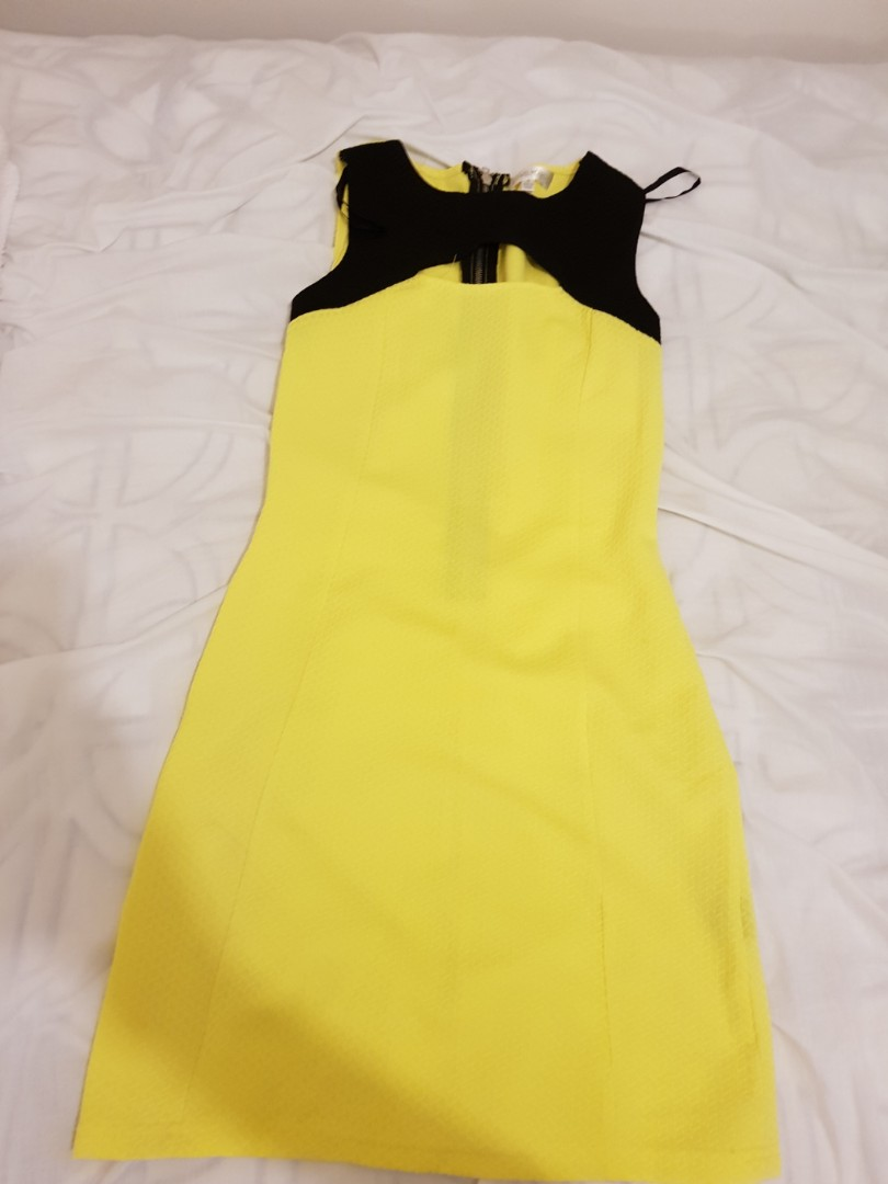 yellow club dress