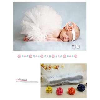 🚚 [寶寶寫真]嬰兒公主紗裙 新生兒寫真攝影服裝