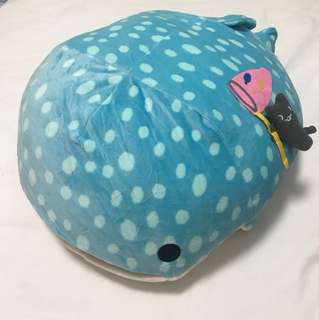 Blue Whale Jinbei-San Soft Toy with Blanket