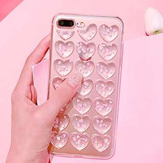 Korean style heart case iphone 7 iphone 8
