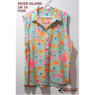 River Island Bright Floral Sleeveless Top