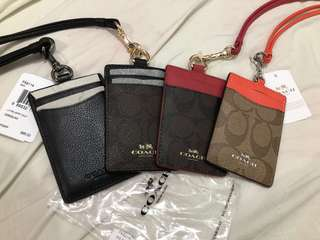 Coach Card Holder Leather