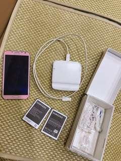 🚚 Samsung N7100粉手機