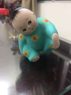 Chinese souvenir little boy statue display