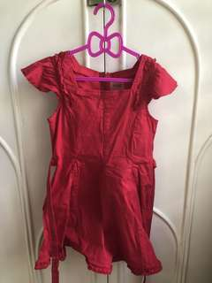 Guess red dress