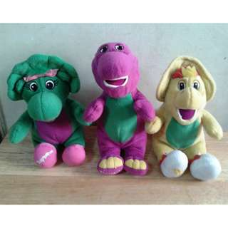 Barney Stuffed toy set