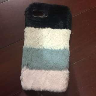 [包郵]Zara 拼色毛毛手機殻 iPhone 6 Plus 適用