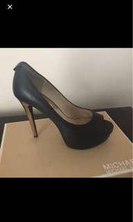 Michael Kors Black Leather Pumps 6.5