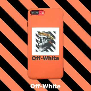 Off White Skull Phone Case For iPhone 6/7/8/X