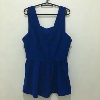 Royal blue peplum