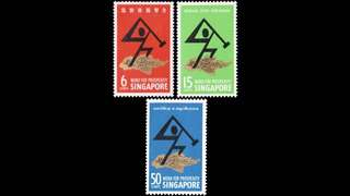 Singapore 1968 National Day stamps 3v unmounted mint