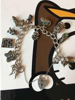 70's Rare Sterling Silver Charm Bracelet