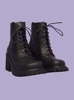 Unif commando boot 厚底 中高筒 靴子