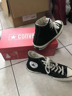 🚚 Converse 1970's 黑色高筒帆布鞋 24cm換23.5cm