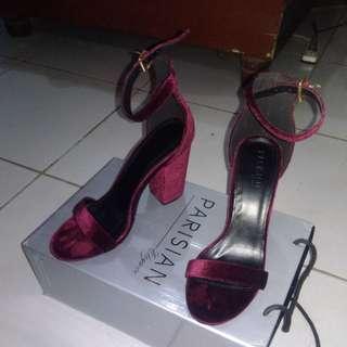 Maroon Parisian Stiletto sandals heels