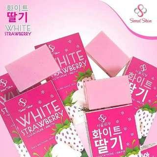 White Strawberry Soap with Glutathione & Arbutin