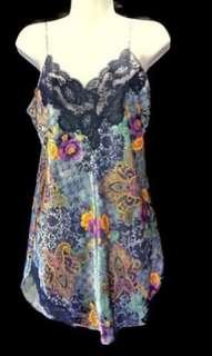 Victoria's Secret Vintage Printed Lingerie Slip