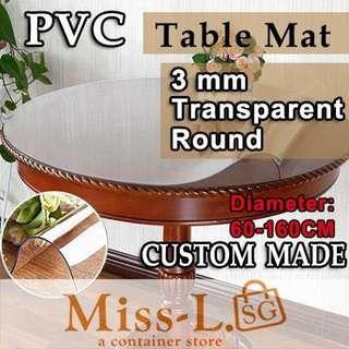 🎨 CUSTOM MADE TABLE MAT-ROUND-3MM TRASPARENT