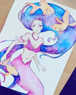Galaxy mermaid