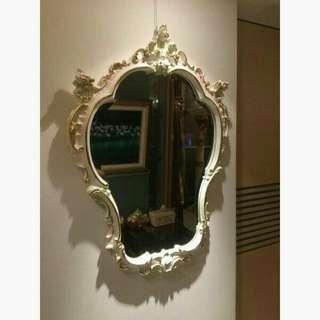 二手美品-歐洲進口家飾~皇室氣派水晶鏡組~