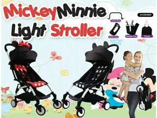 MICKEY MINNIE BABY STROLLER