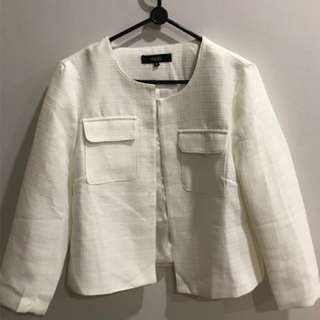 MDS Cropped White Jacket