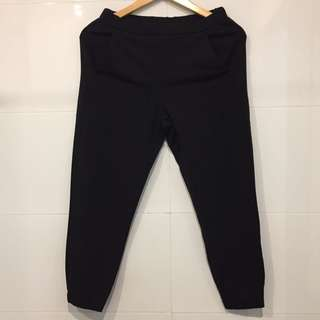 Uniqlo Black Rayon Jogger Pants