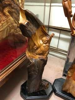 木雕 雕刻 彌勒佛
