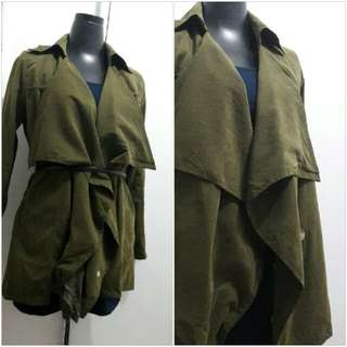 Repriced! Light Korean Parka Olive Green/Army Green