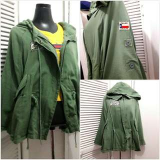 Repriced! Army Green Military hooded parka/coat