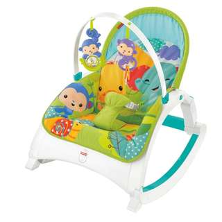 Fisher-Price Newborn-to-Toddler Portable Rocker, Rainforest