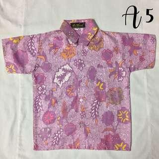 (A5)- Boy's Batik Shirt