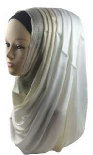 Silver viscous Glitter Hijab scarf.hurry hurry up clearance sale
