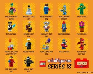 Lego CMS 18 Collectible Minifigures Series 18