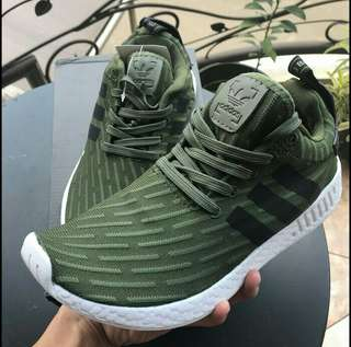 ADIDAS NMD R2 Green High premium original