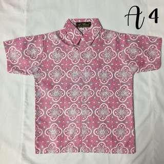 (A4)- Boy's Batik Shirt