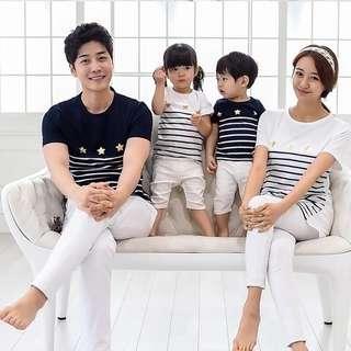 韓國親子裝夏裝2018新款全家裝一家三口四口母子母女旅遊拍照裝潮