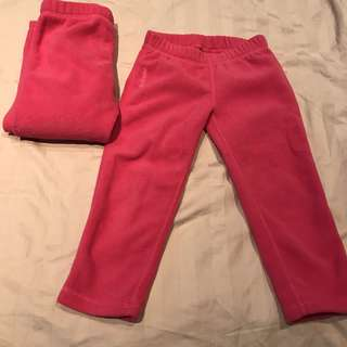 Winter fleece girl pants (3 pieces)