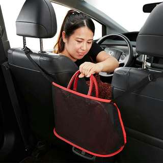 🚚 汽車座椅間儲物網 收納袋 多功能椅背置物袋