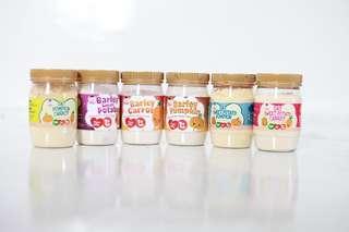 Mixed cereals for babies. Bijirin oat/barley bersama sayuran.