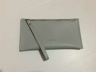 Grey plain wallet