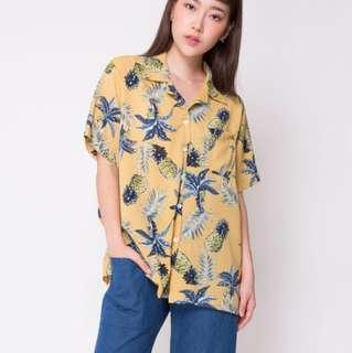 Pineapple Summer Shirt - Freesize