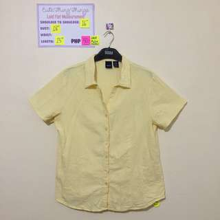 Pastel Yellow Short Sleeved Cotton Top
