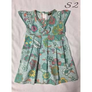 (S2)- Girl's Batik Dress