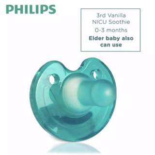 Two Philips baby soother pacifier