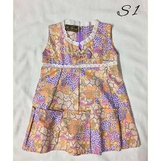 (S1)- Girl's Batik Dress