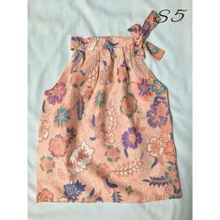 (S5)- Girl's Batik Top