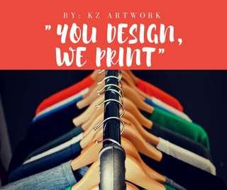 Customized Apparel Design @ Printing