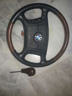 Bmw steering wood kayu e39 e46
