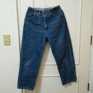 gartered Denim jeans